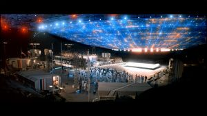 """Image from the film """"Close Encounters of the Third Kind"""" showing an alien craft."""