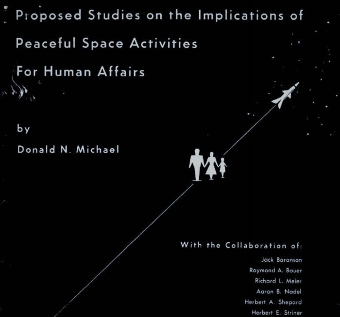 Front cover of the Proposed Studies on the Implications of Peaceful Space Activities