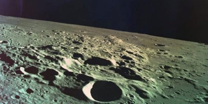 Close-up of the Moon's surface