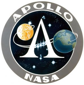 The logo of Nasa's Apollo Program.