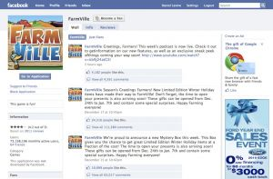 Screenshot from Farmville on Facebook