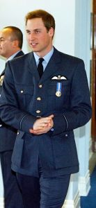 Prince William in RAF attire.