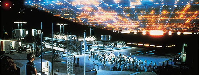 """Alien craft from the film, """"Close Encounters of the Third Kind""""."""