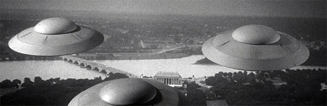 Flying saucers from the film Earth vs. The Flying Saucers