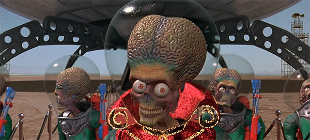 "CGI Aliens from the 1996 film, ""Mars Attacks""."