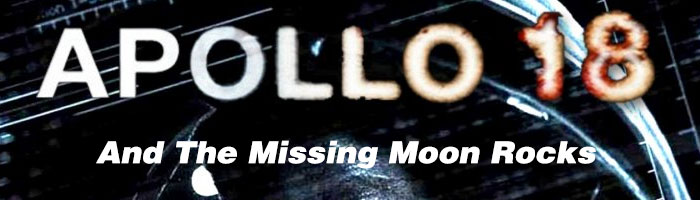 Apollo 18 film logo with missing moon rocks header