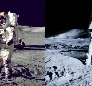 Footage on Moon