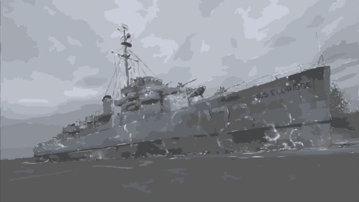 A painting of the alleged Philadelphia Experiment