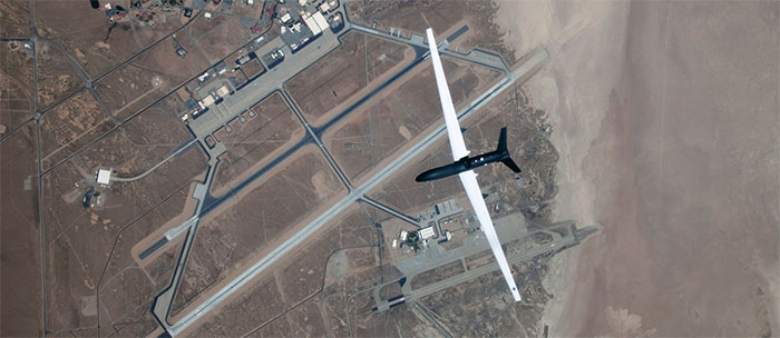 Aerial shot of Edwards Air Force Base
