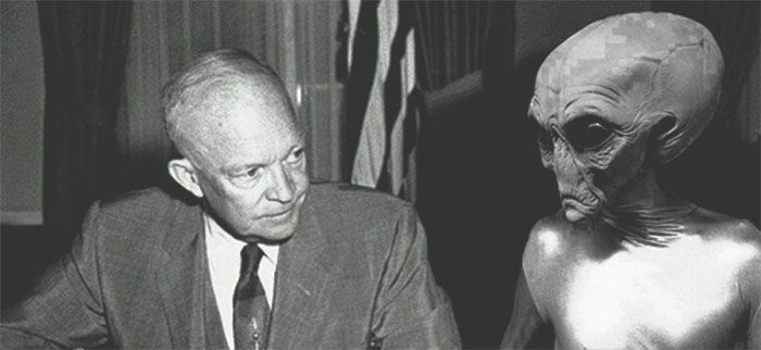 Eisenhower with an Alien