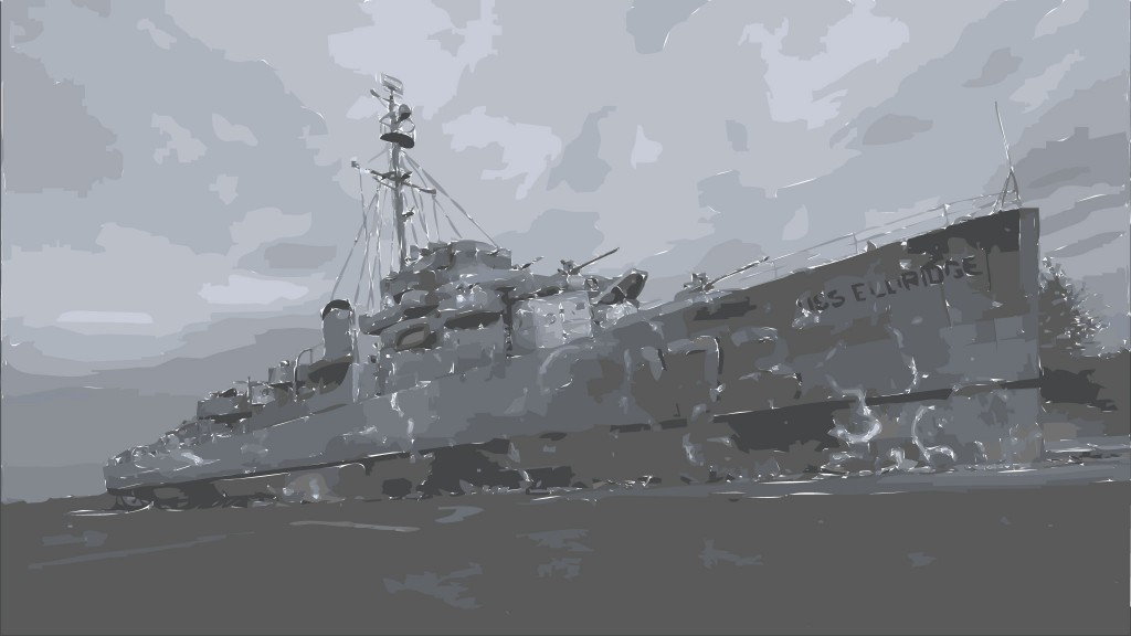 USS Eldridge vector art