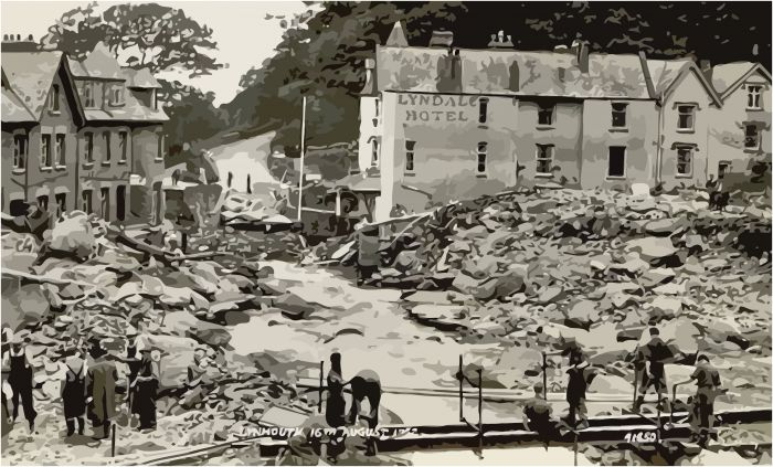 Devastation at Lynmouth
