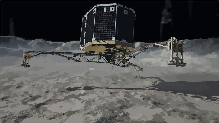 Philae lander on comet