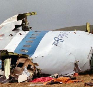 Lockerbie 747 at crash site
