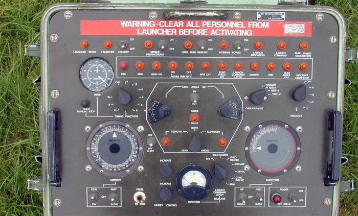 A picture of a missile control unit