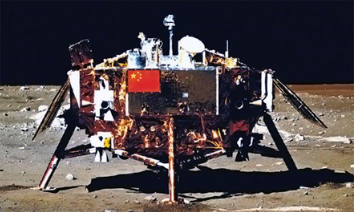 Chang'e 3 on the moon
