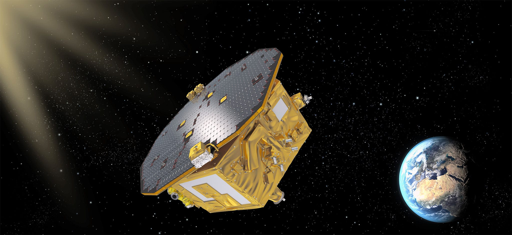 The Lisa Pathfinder ESA artistic image
