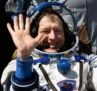 Tim Peake just after returning to Earth