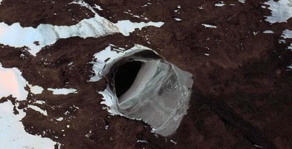 An apparent Nazi underground base in Antarctica.