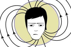 Electromagnetic field around human head
