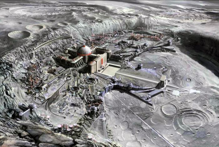Artist's impression of the Nazi Moon Base.
