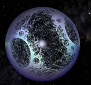 Artist's impression of an alien build Dyson Sphere.
