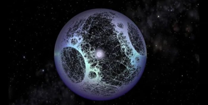Artist's impression of an alien built Dyson Sphere.
