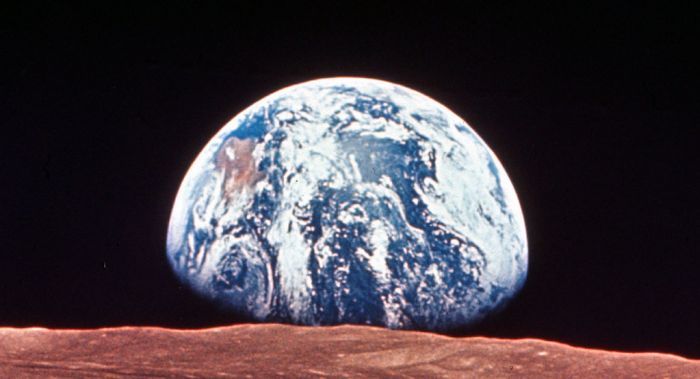 Picture of Earth from the Moon.