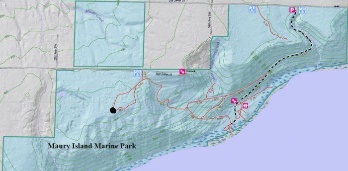 Maury Island Marine Park map