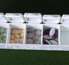 Medicine in planner container.
