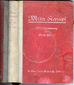 Rare copy of Mein Kampf original publication.