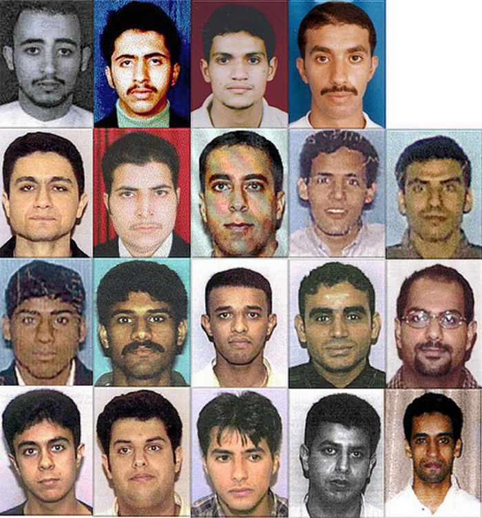 The 19 alleged hijackers.