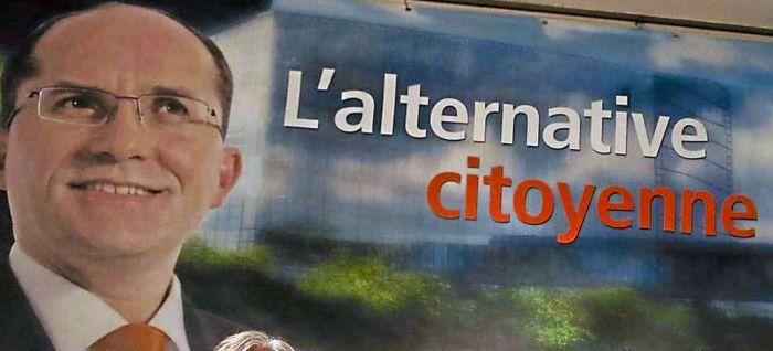 Tuncer Saglamer's political banner.