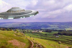UFO over Yorkshire Moors artwork.