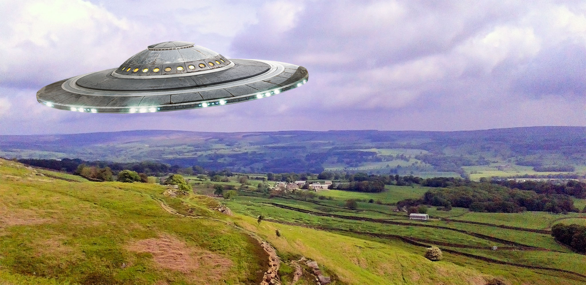 UFO over Yorkshire Moors artwork.