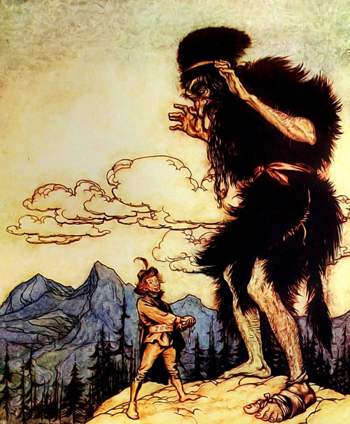 A depiction of a giant
