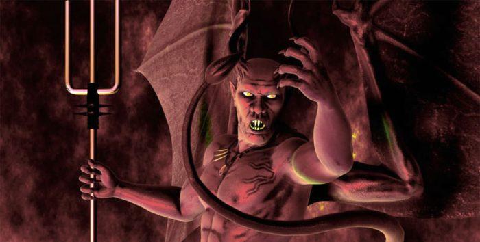 Artist's drawing of Satan.