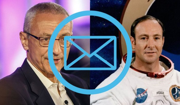 Podesta and Edgar Mitchell email header image.