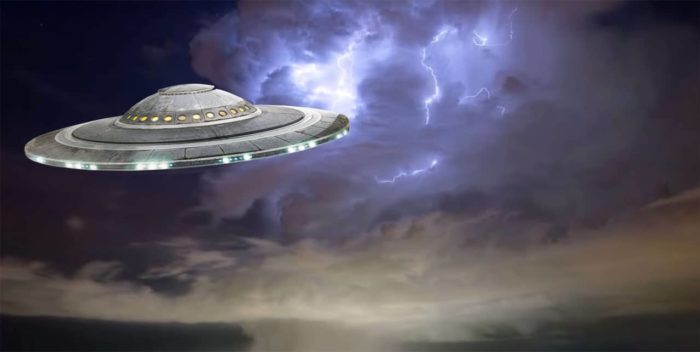 UFO entering a portal