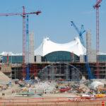 Construction of Denver International Airport.