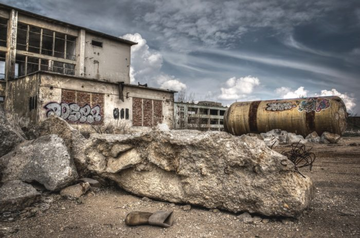 The ruins of Chernobyl