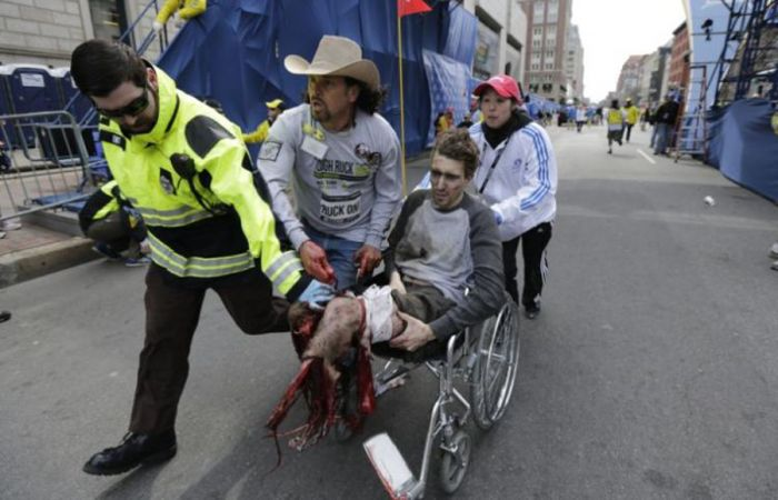 Victim Jeff Bauman and Carlos 'The Cowboy' Arredondo.