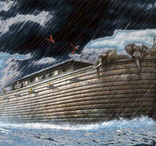 """The legendary """"Noah's Ark"""" and flood."""