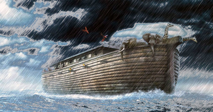 "The legendary ""Noah's Ark"" and flood."