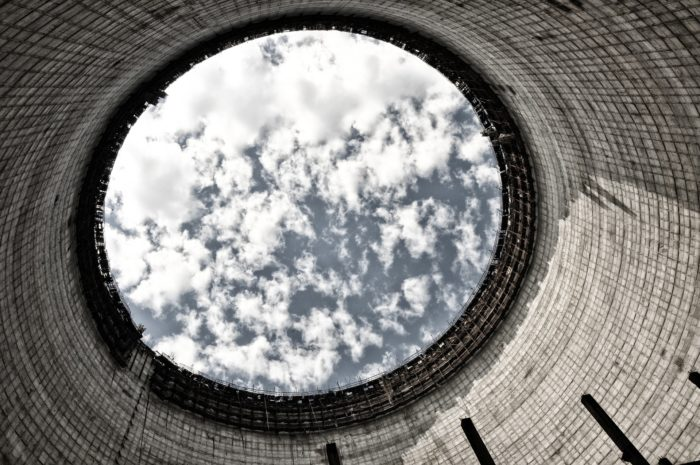 Cooling tower at Chernobyl