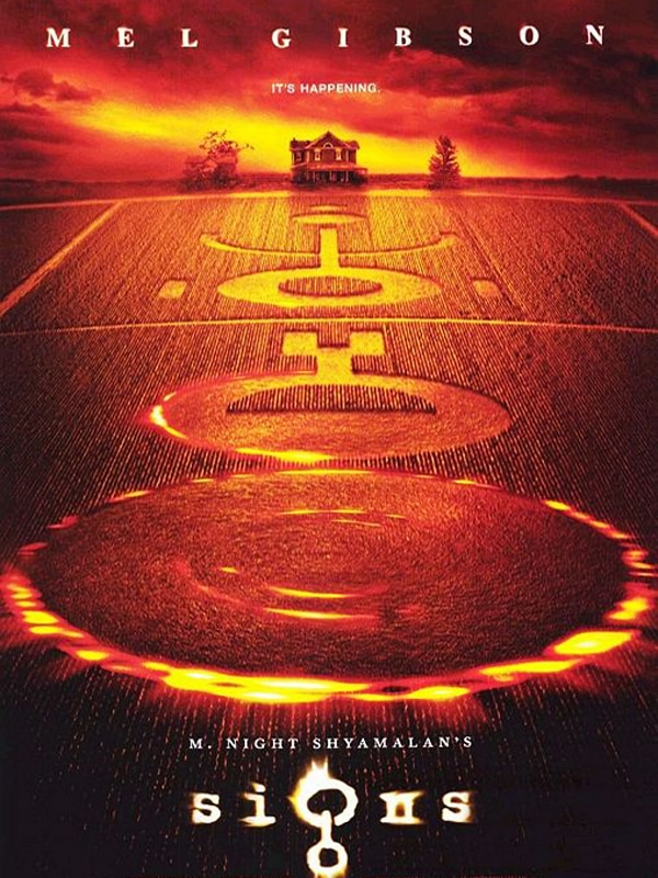 Signs: 2002 film with Mel Gibson, crop circles and aliens.
