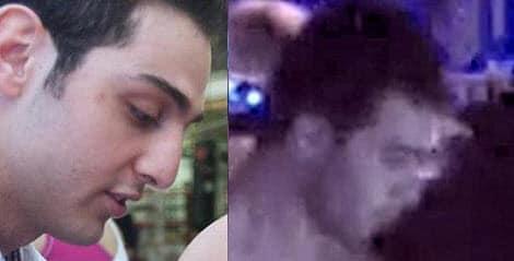 Tamerlan Tsarnaev (left) and arrested naked man