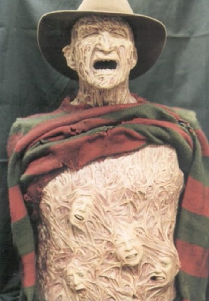 The model of Freddy Kruger with souls emerging from his torso