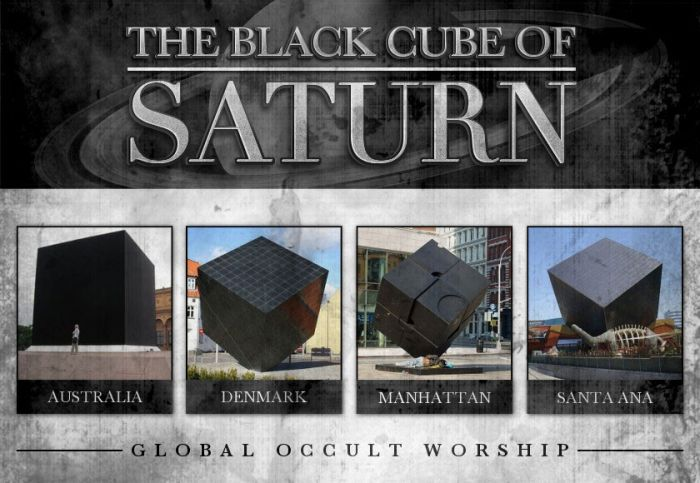 "black cubes are found all over the world outside ""important"" buildings"