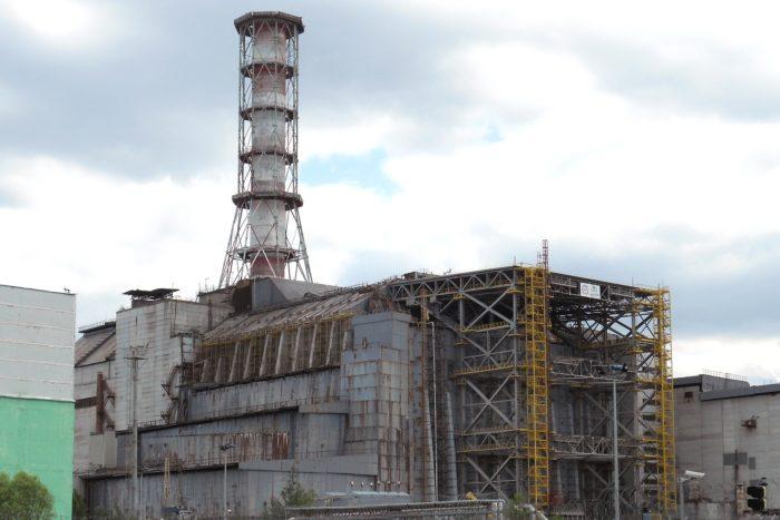 The crippled Chernobyl plant